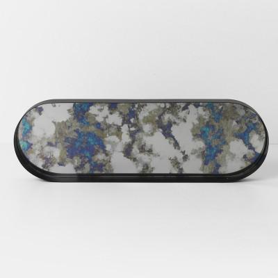 Plateau Coupled ovale bleu