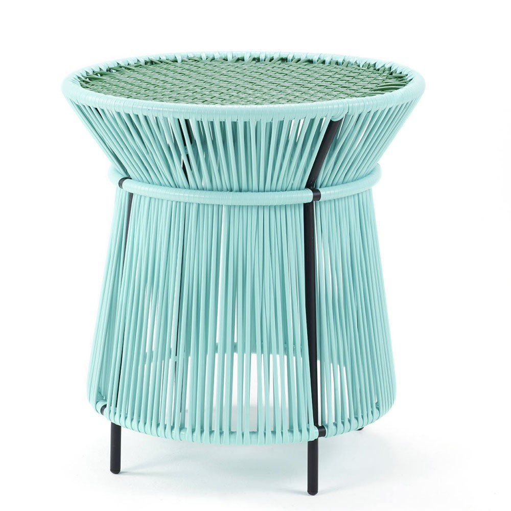 Caribe high side table mint, green & black ames
