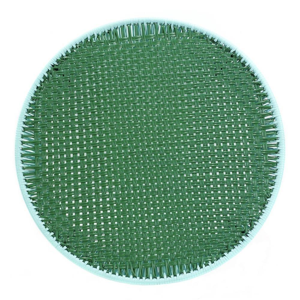 Caribe hoge bijzettafel mint, groen & zwart ames