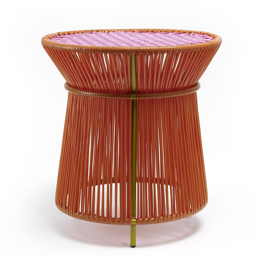 Caribe high side table orange, pink & curry ames