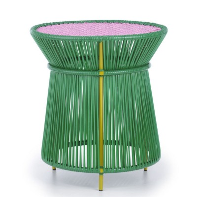 Caribe high side table green, pink & curry ames