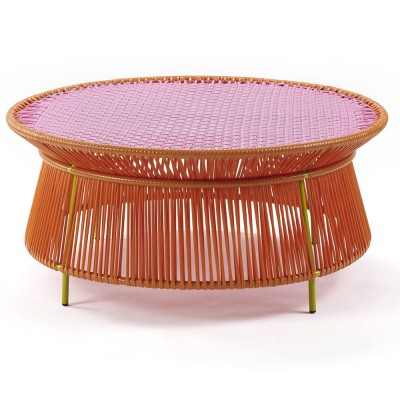 Caribe low table orange, pink & curry ames