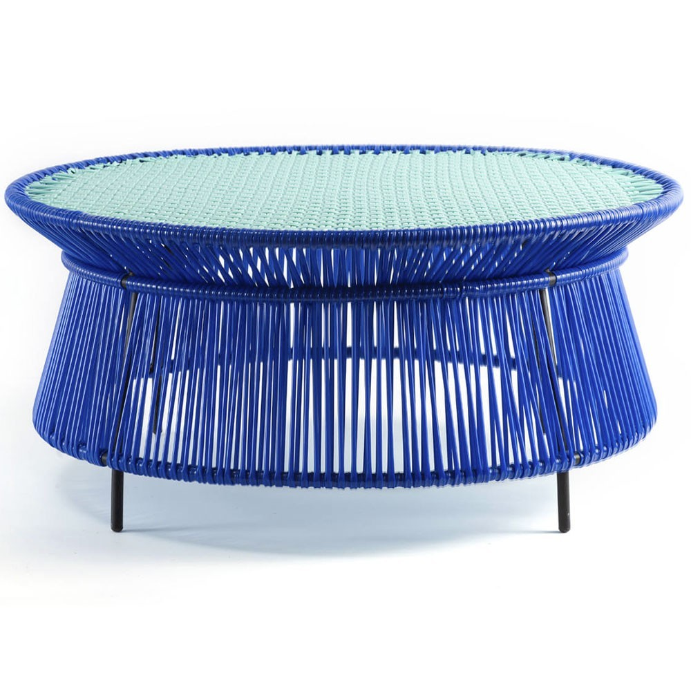 Caribe low table blue, mint & black ames