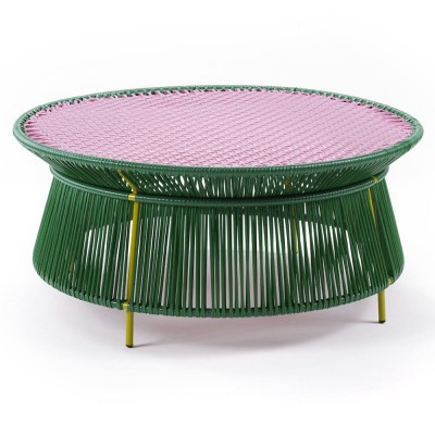 Caribe low table green, pink & curry ames