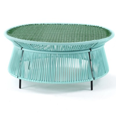 Caribe low table mint, green & black ames