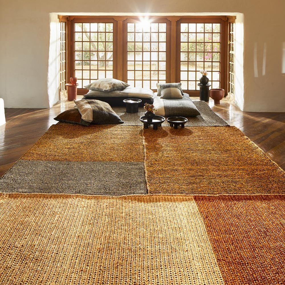 Par rug natural rose & terracotta yellow S ames