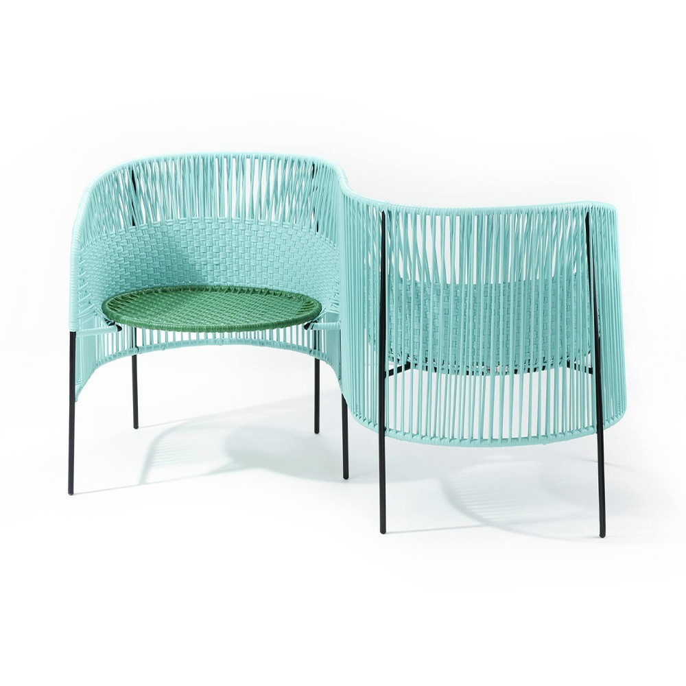 Vis a vis armchair Caribe mint, green & black ames