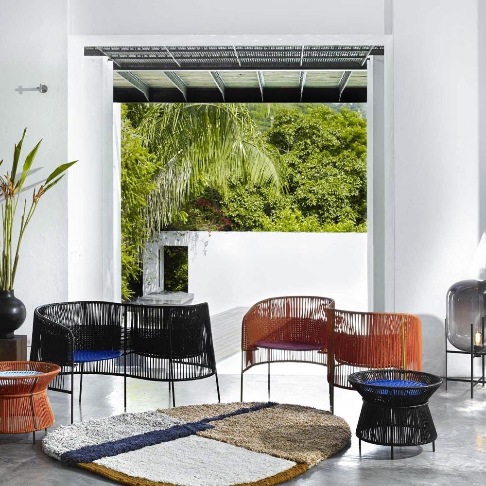 Vis a vis armchair Caribe blue, mint & black ames