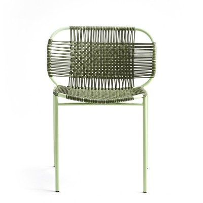 Chaise Cielo olive & menthe ames