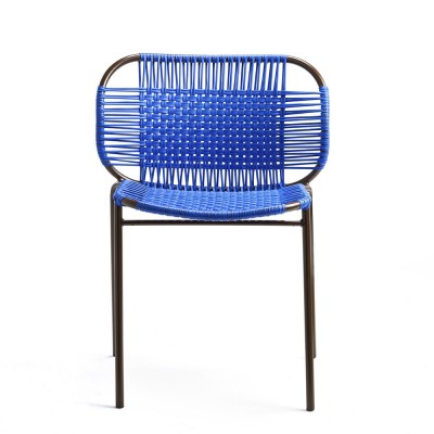 Cielo chair blue & brown ames