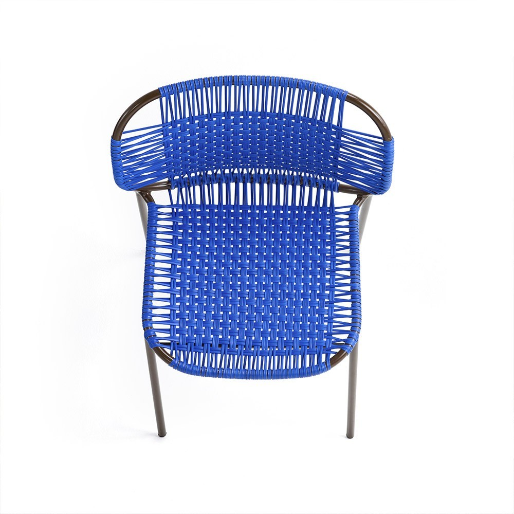 Chaise Cielo bleu & brun ames