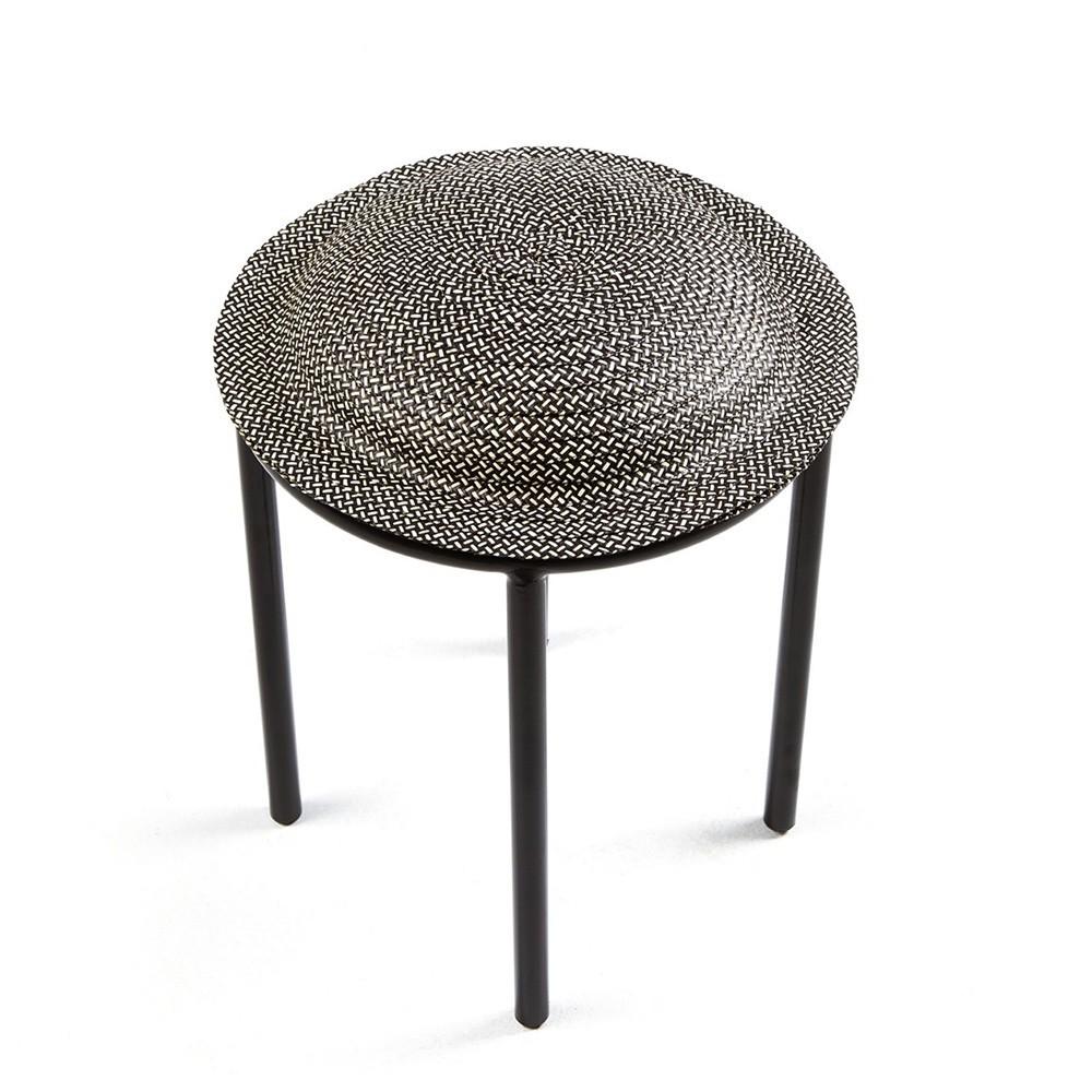 Cana stool black & natural ames