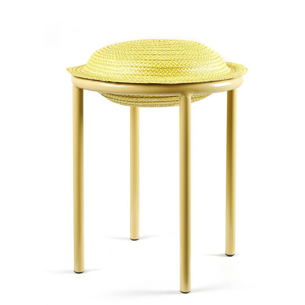 Cana stool yellow, natural & sand ames