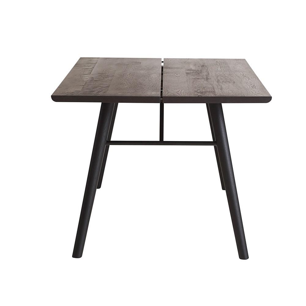 Alley 180 cm table smocked oak & black Woud