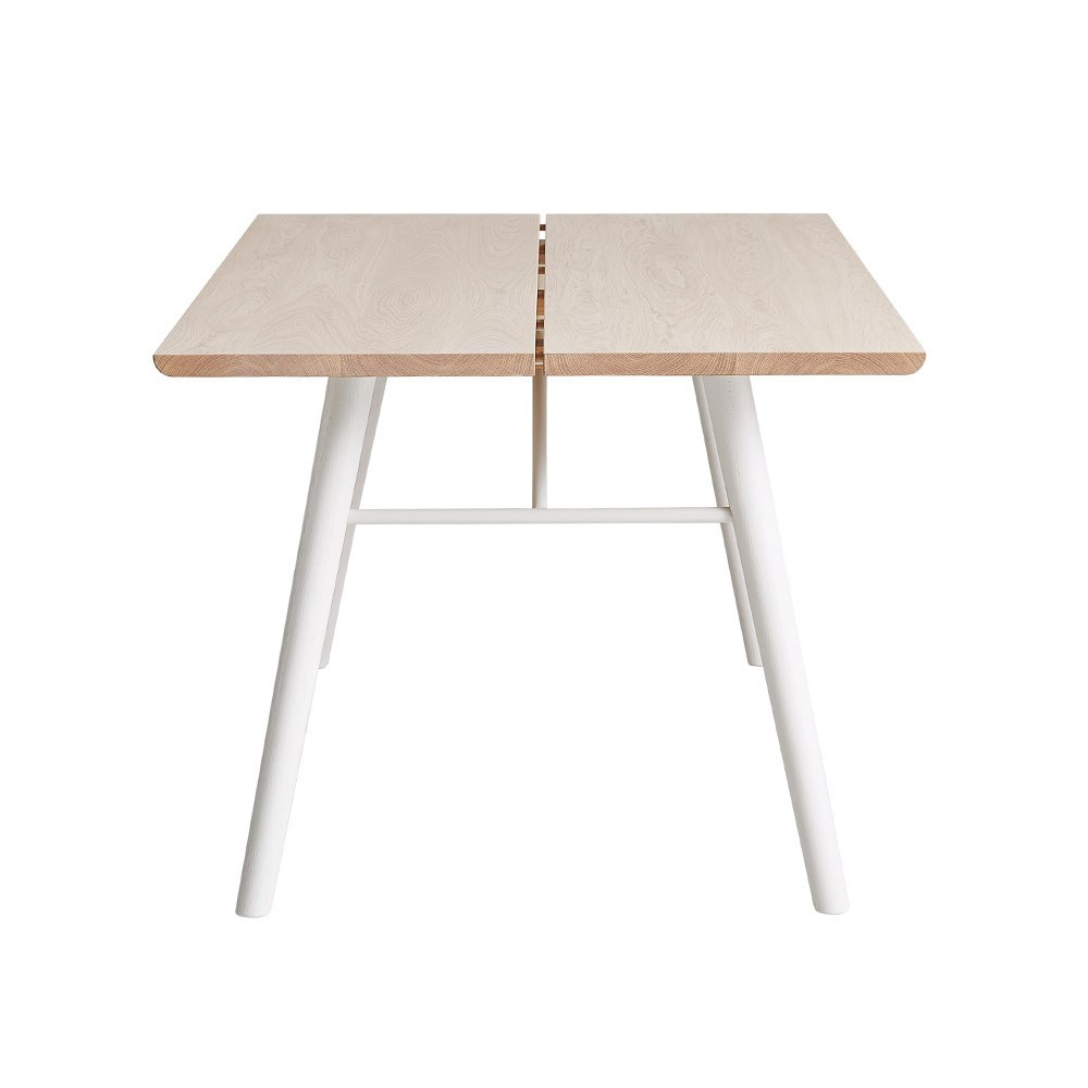 Alley 205 cm table oak and white Woud