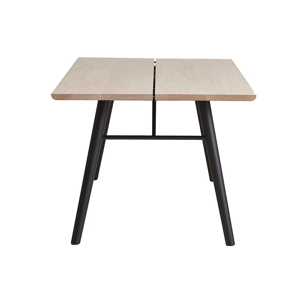 Alley 205 cm table oak and black Woud