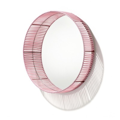 Miroir rond Cesta rose & rouge ames