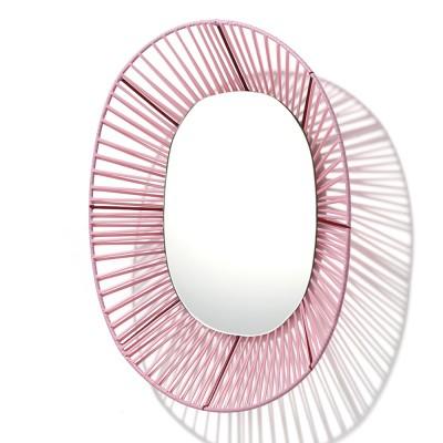 Miroir ovale Cesta rose & rouge ames
