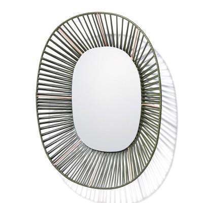 Ovale spiegel Cesta olijfgroen & vleeskleur ames