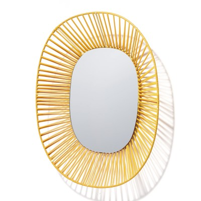 Cesta oval mirror honey & sand ames