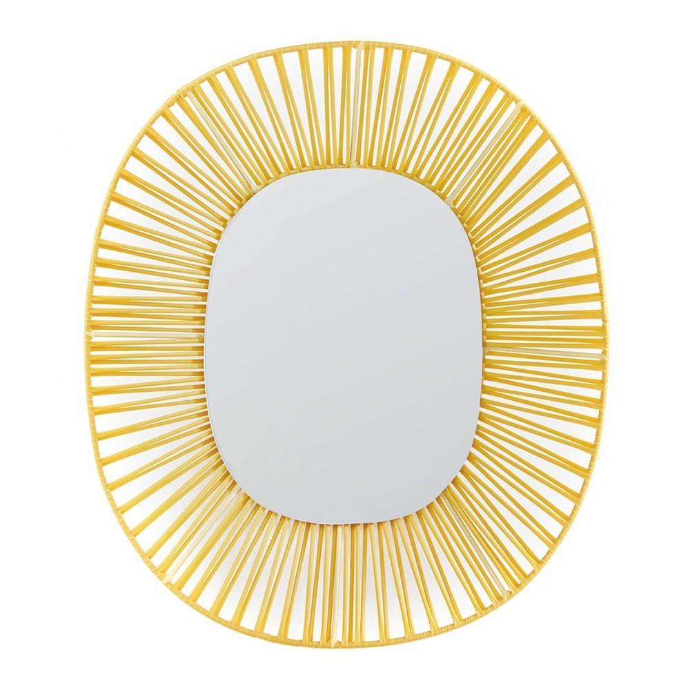 Miroir ovale Cesta miel & sable ames