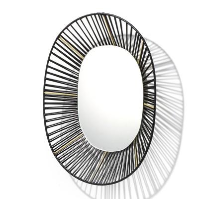 Ovale spiegel Cesta zwart & zand ames