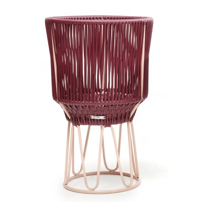 Pot de fleurs Circo 2 violet & chair ames