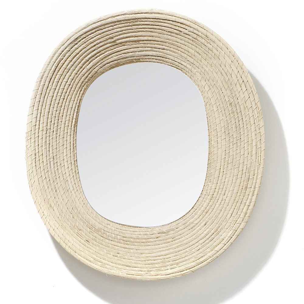 Killa oval mirror natural ames