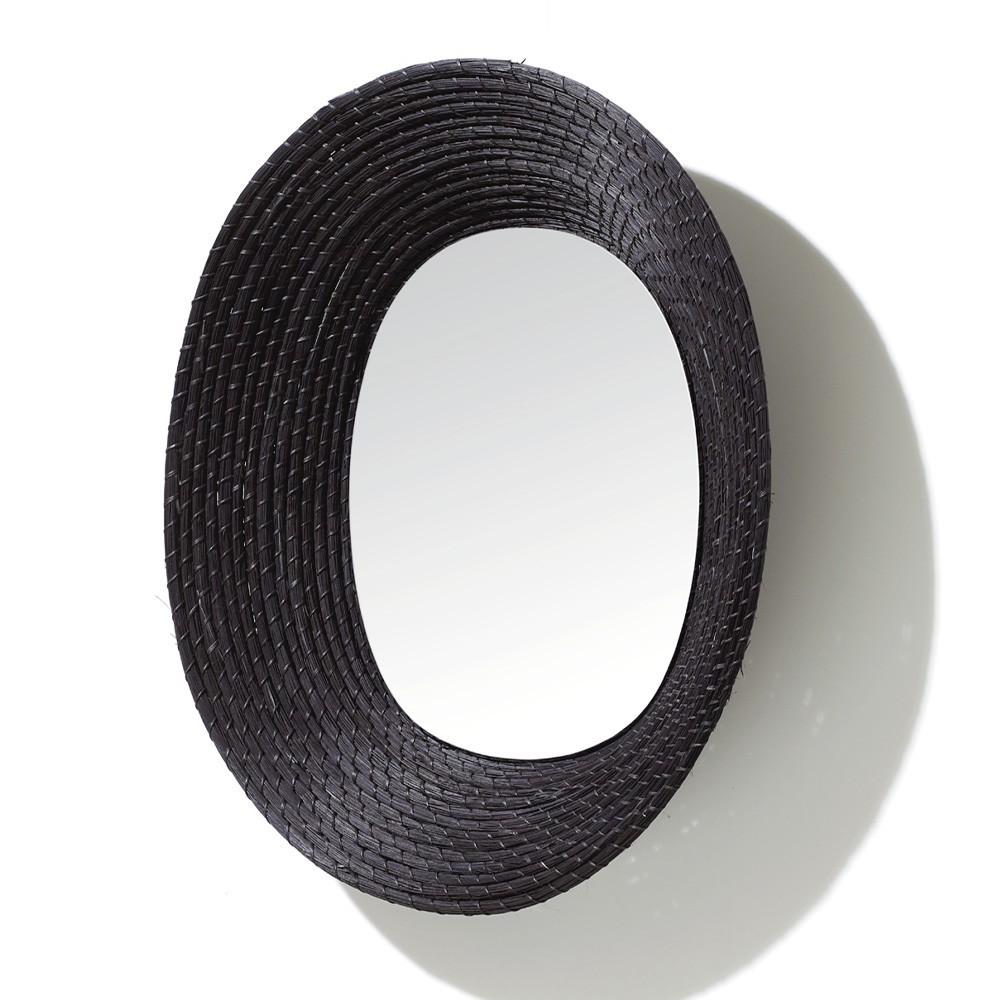 Killa ovale spiegel zwart ames