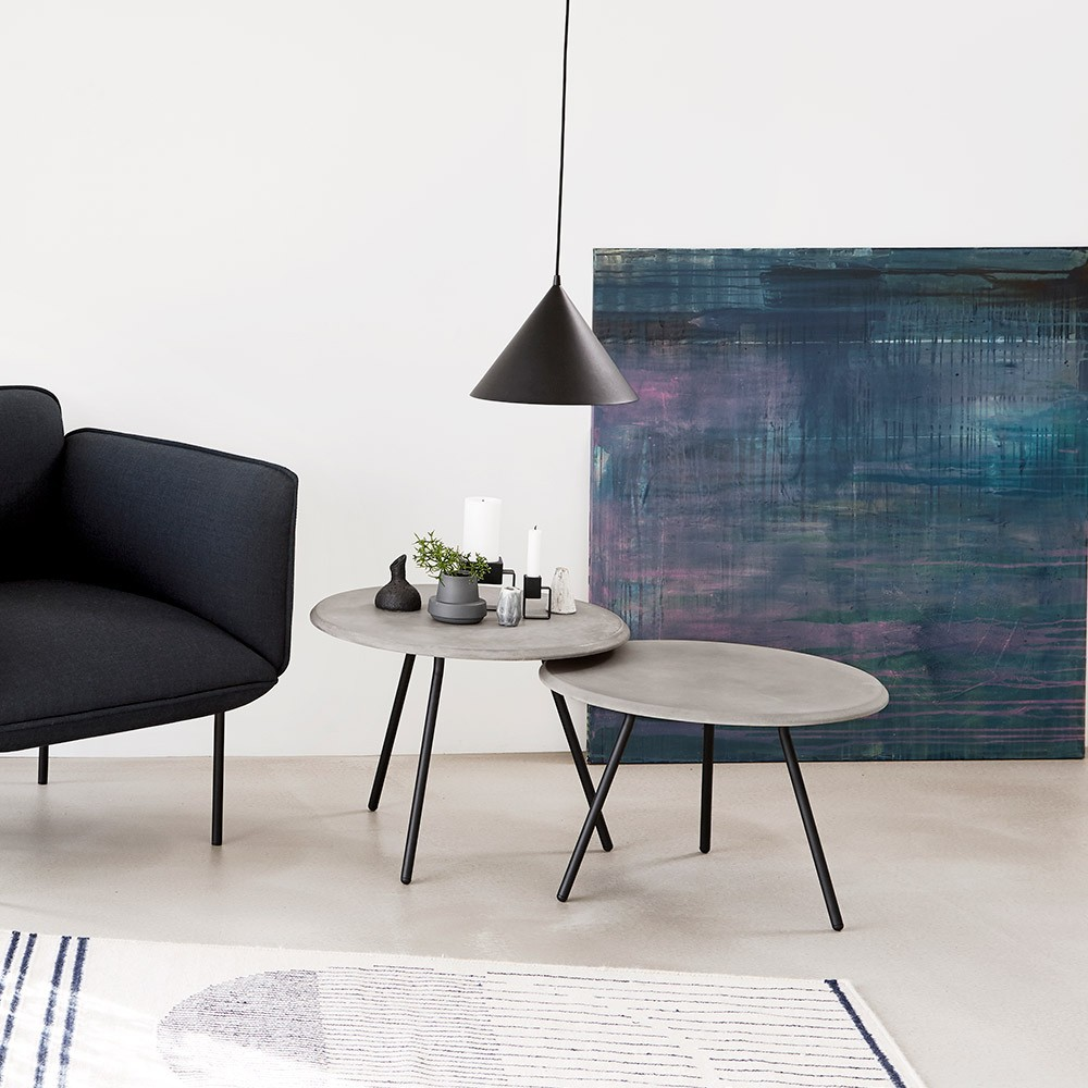 Soround coffee table concrete 60 cm L Woud