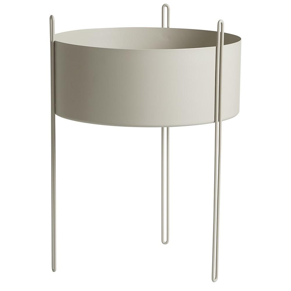 Pidestall flowerpot grey L Woud