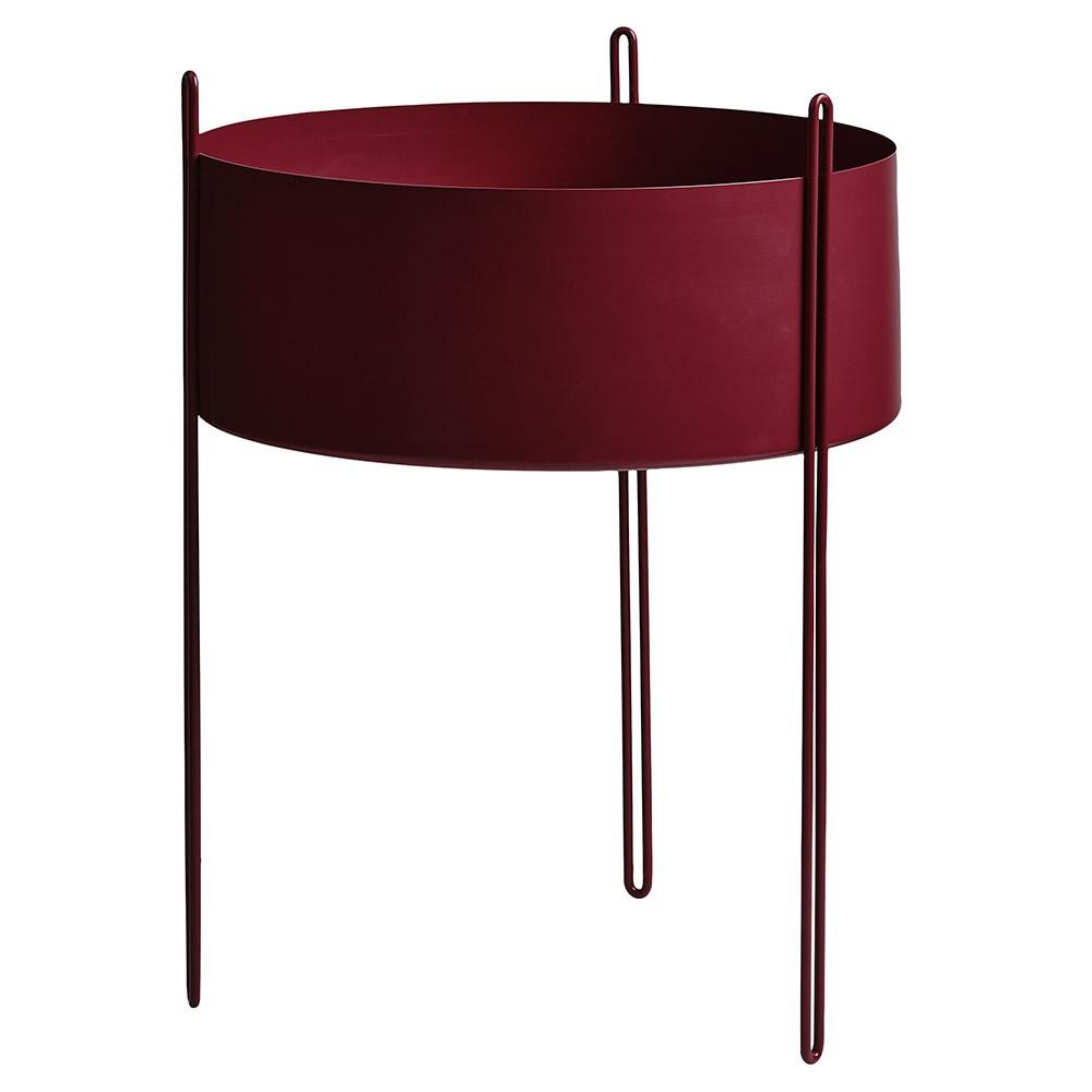 Pidestall flowerpot red L Woud