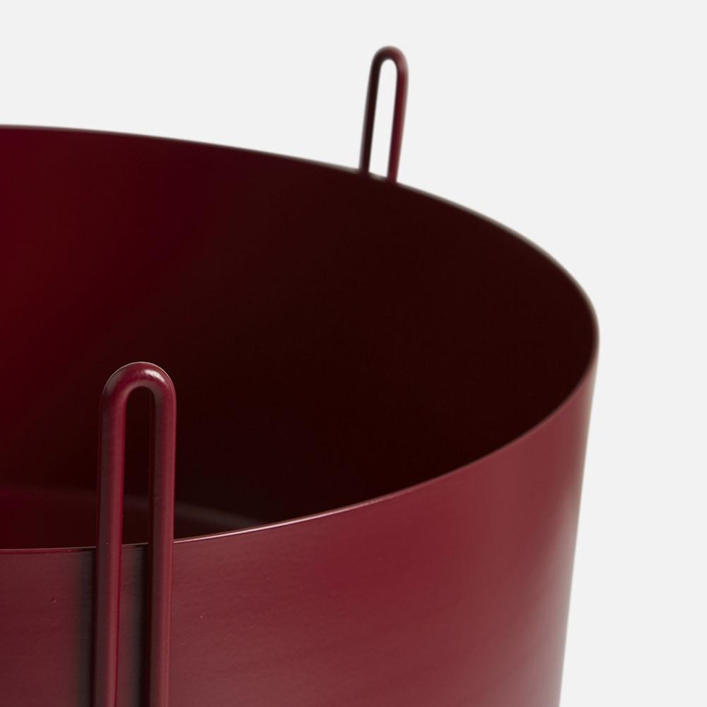 Pot de fleurs Pidestall rouge M Woud