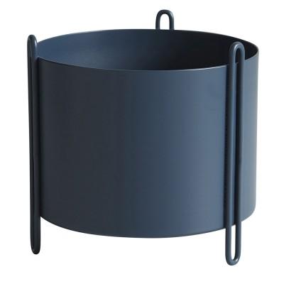 Pidestall flowerpot blue S Woud