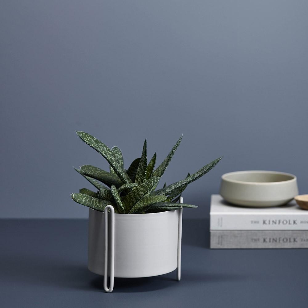 Pot de fleurs Pidestall gris S Woud