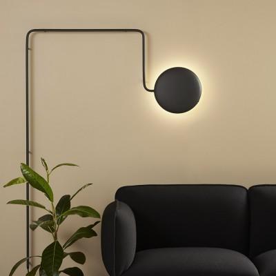 Lampada da parete Mercury nera
