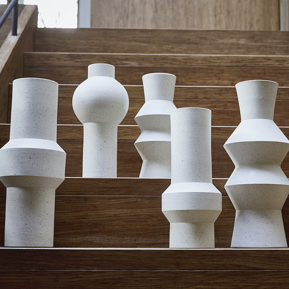 Vase moucheté Angular L HKliving