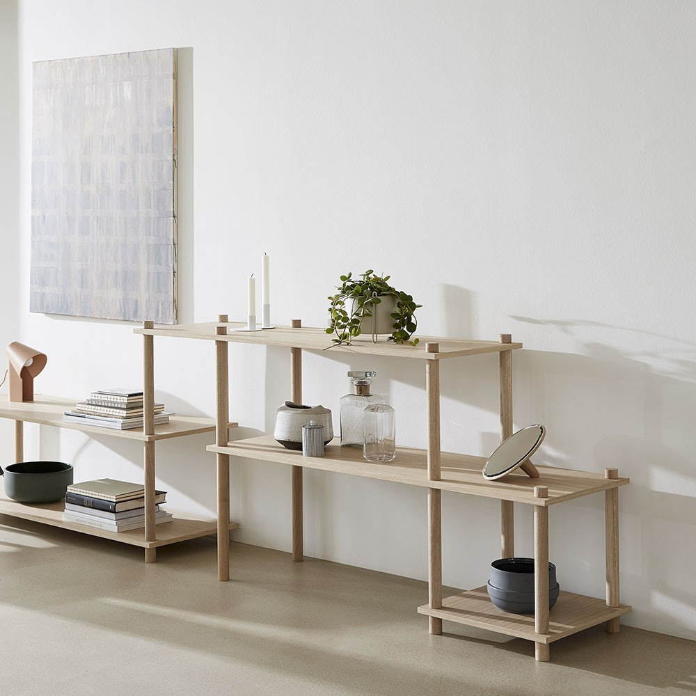 Set of 2 legs E Elevate shelving system Woud