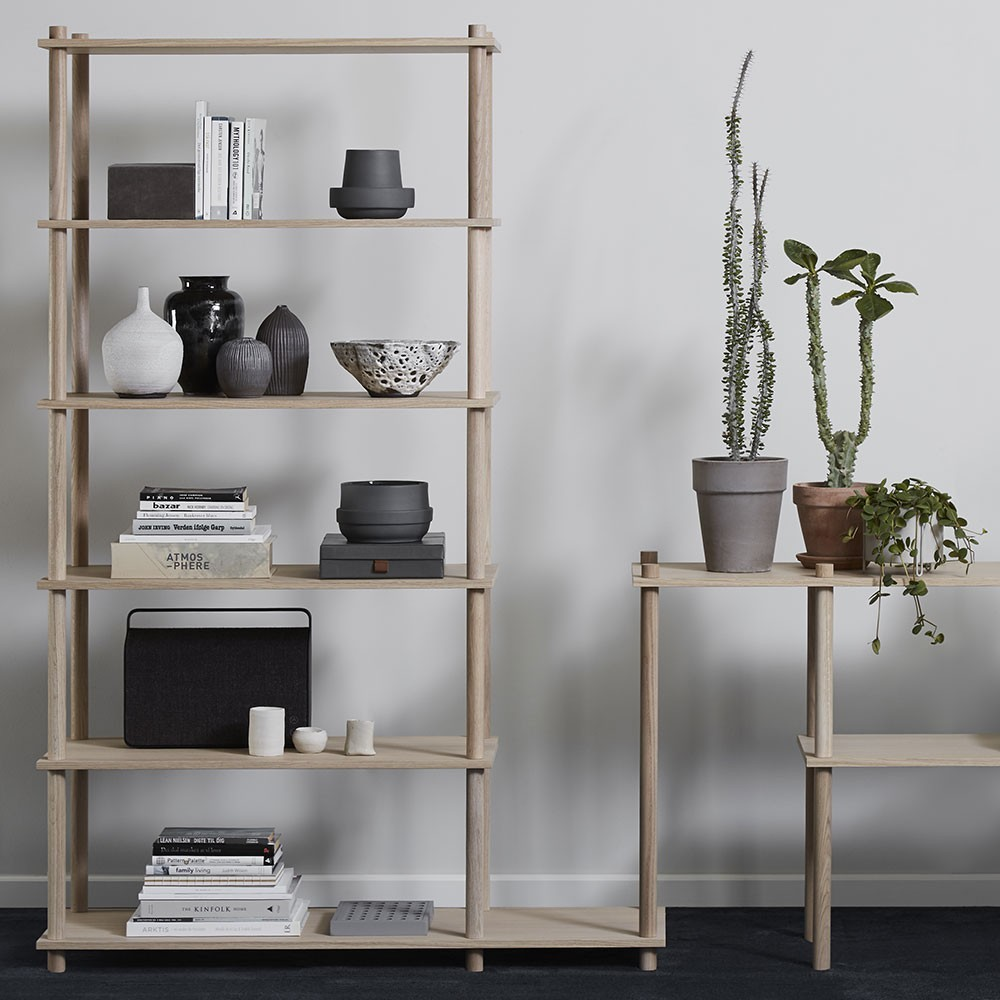 Set of 2 shelves B Elevate shelving system Woud