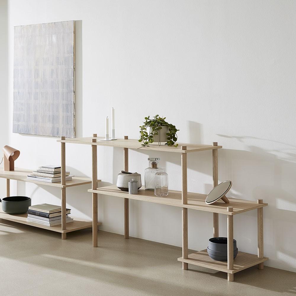 Set of 2 shelves E Elevate shelving system Woud