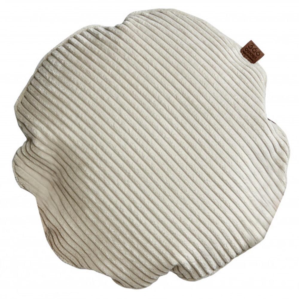 Cream circle cushion Cord 366 Concept