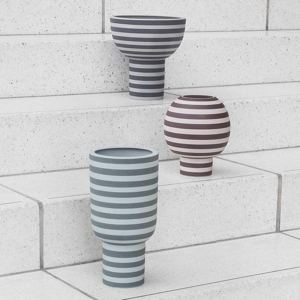 Vase Varia cendre & noir AYTM