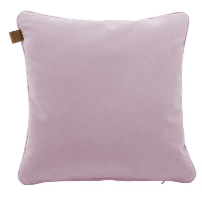 Powder pink square cushion Velvet 366 Concept