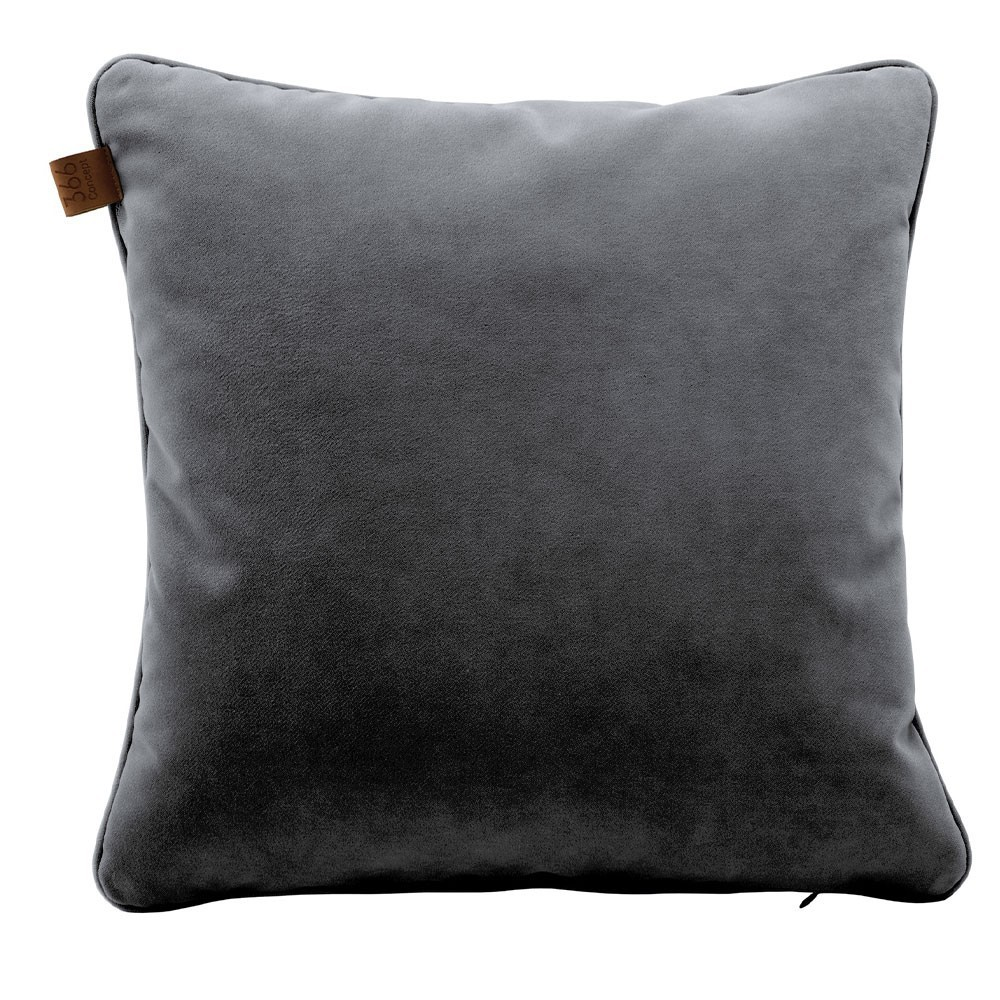 Graphite square cushion Velvet 366 Concept