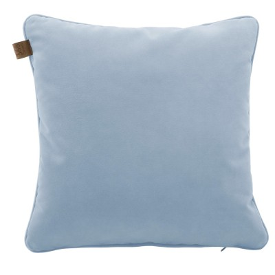 Sky blue square cushion Velvet 366 Concept