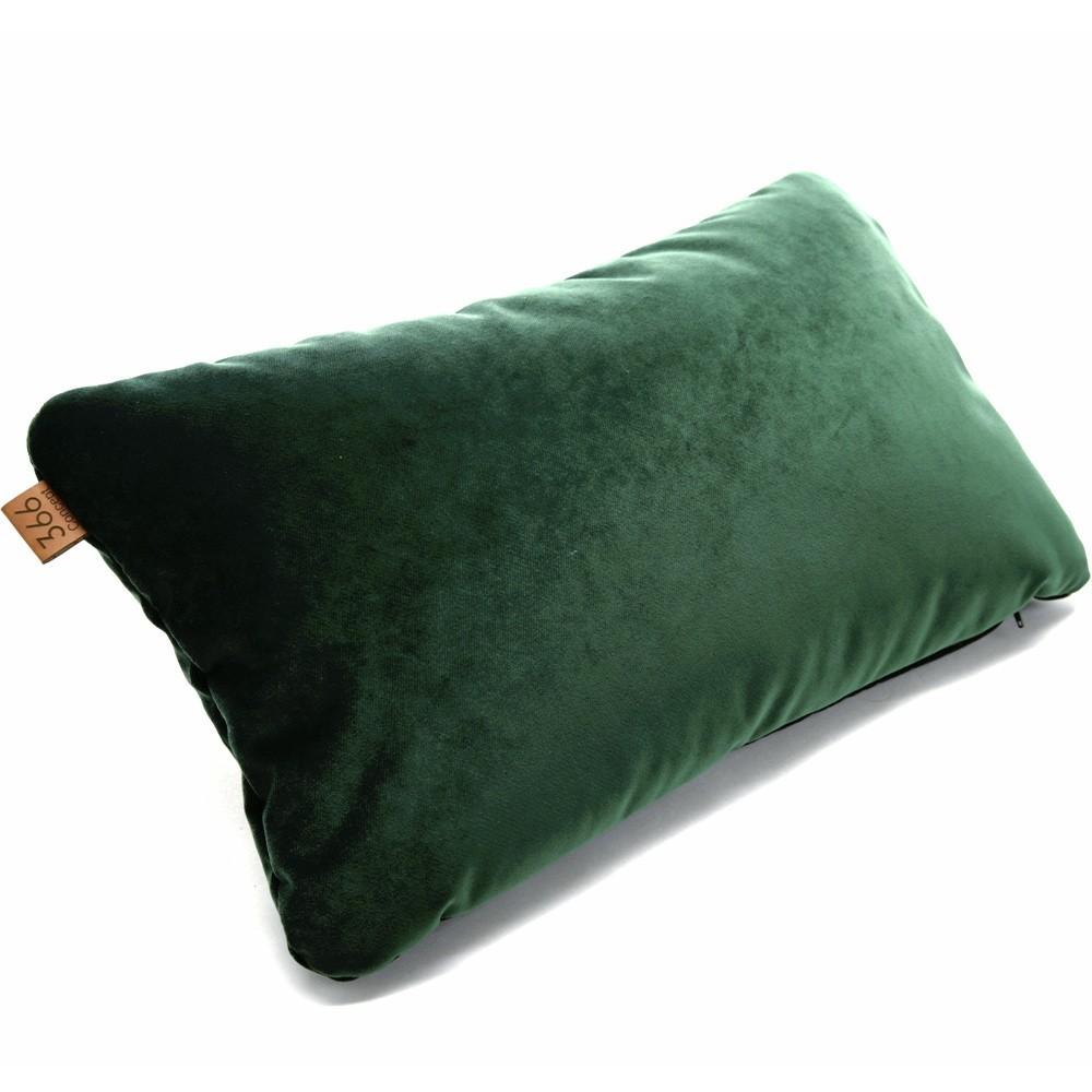 Green rectangle cushion Velvet 366 Concept