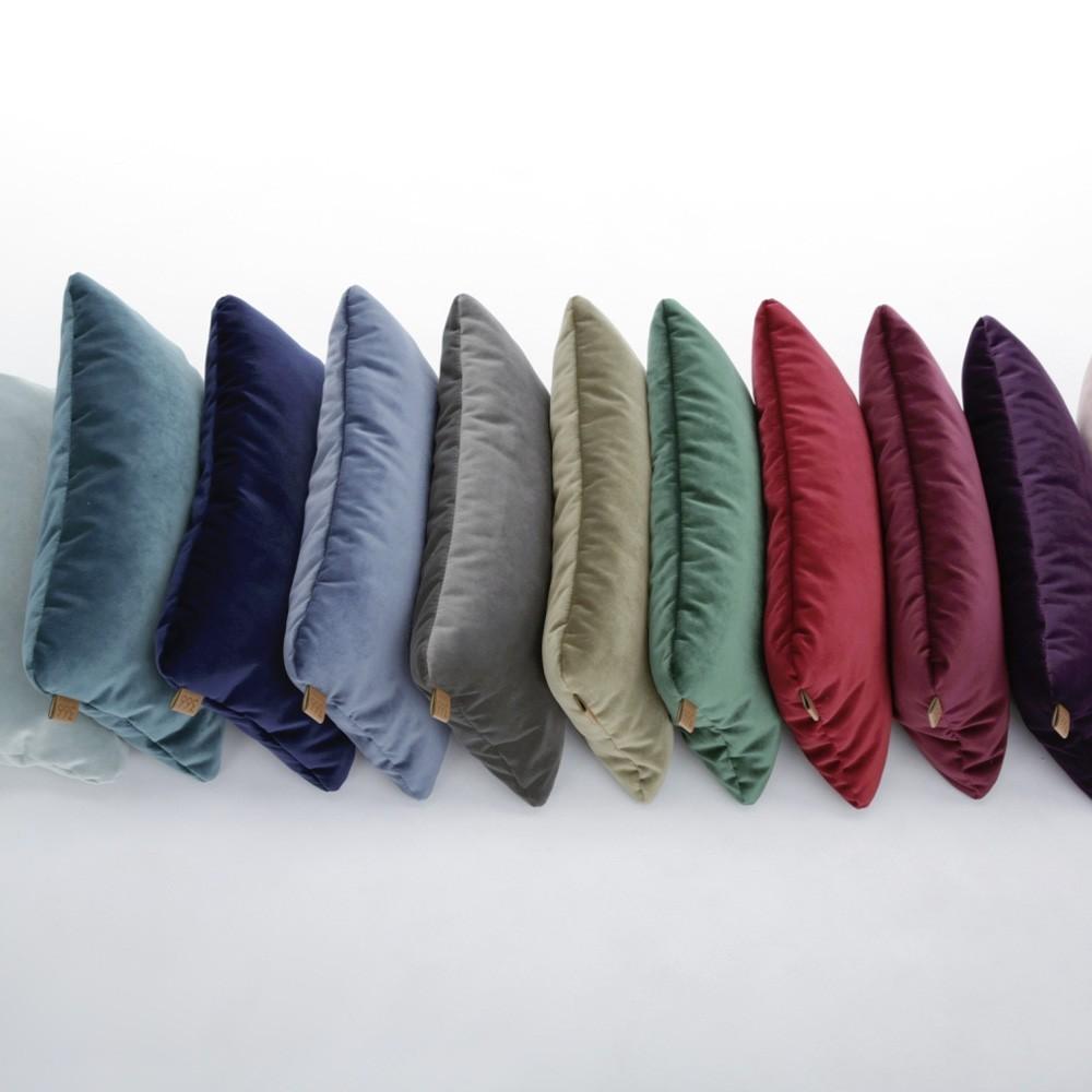 Powder pink rectangle cushion Velvet 366 Concept
