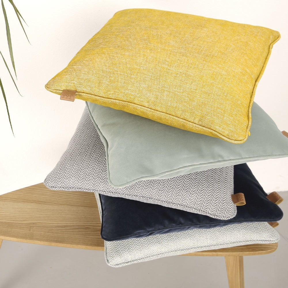 Mustard square cushion Loft 366 Concept