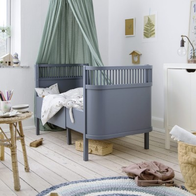Sebra bed forest lake blue Sebra