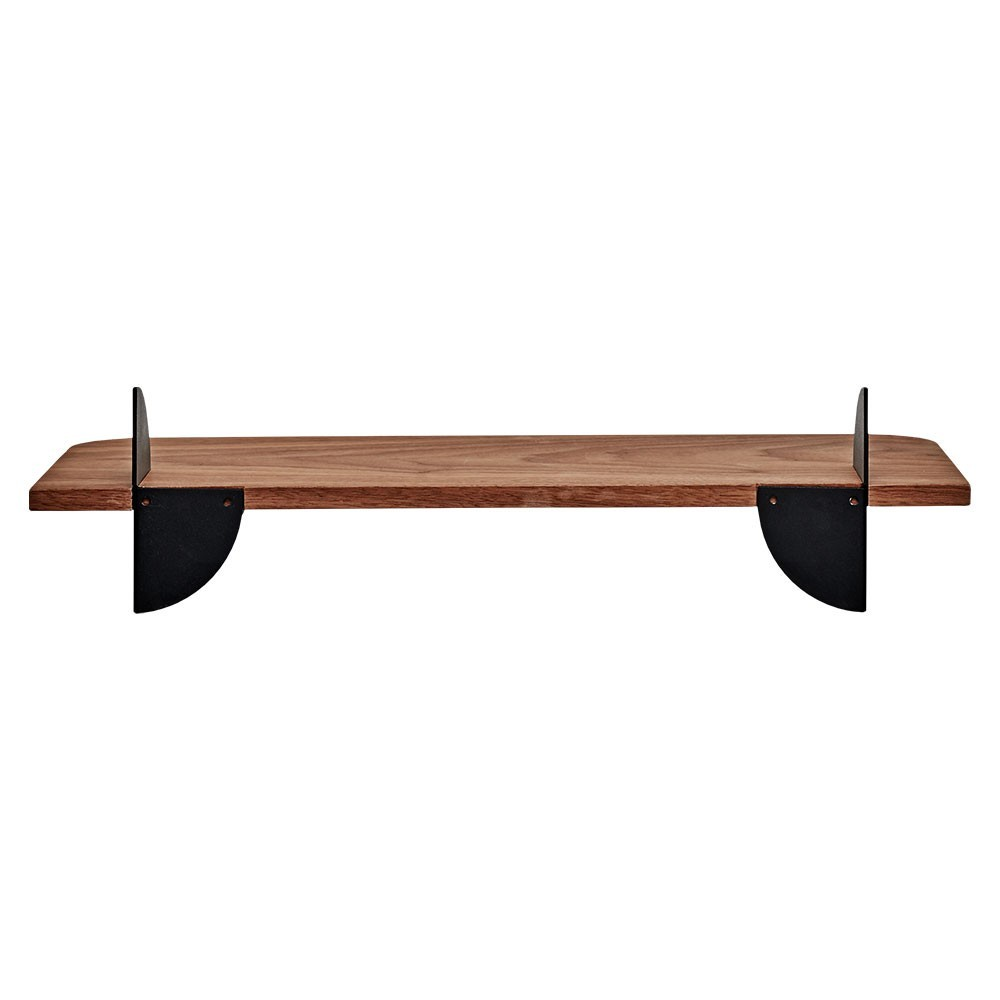 Aedes shelf walnut & black 50 cm AYTM